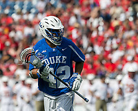 Foxborough, Massachusetts - May 26, 2018: NCAA Division I tournament semifinal. Duke University (blue/white) defeated University of Maryland (white), 13-8, at Gillette Stadium.
