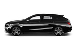 Car driver side profile view of a 2018 Mercedes Benz CLA Shooting Brake Sport 5 Door Wagon