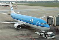 - airport of Milan Linate, KLM airliner....- aeroporto di Milano Linate, aereo KLM