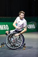 Rotterdam, The Netherlands, 4 march  2021, ABNAMRO World Tennis Tournament, Ahoy, First round wheelchair: Ruben Spaargaren (NED).<br /> Photo: www.tennisimages.com/