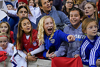 HOUSTON, TX - JANUARY 31: Fans of the United States celebrate during a game between Panama and USWNT at BBVA Stadium on January 31, 2020 in Houston, Texas.