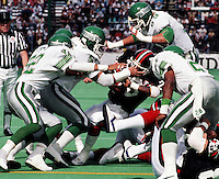 Saskatchewan Roughriders defence 1987. Photo F. Scott Grant