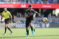 SAN JOSE, CA - SEPTEMBER 29: Danny Hoesen #9 of the San Jose Earthquakes during a Major League Soccer (MLS) match between the San Jose Earthquakes and the Seattle Sounders on September 29, 2019 at Avaya Stadium in San Jose, California.