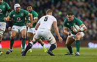 Saturday 2nd February 2019 | Ireland vs England<br /> <br /> Tadhg Furlong runs at George Kruis during the opening Guinness 6 Nations clash between Ireland and England at the Aviva Stadium, Lansdowne Road, Dublin, Ireland.  Photo by John Dickson / DICKSONDIGITAL