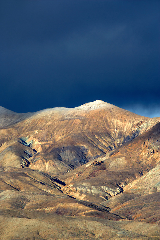 Calico Mountain with snow and storm.Calico Mountains Wilderness in Black Rock Desert National Conservation Area. Nevada