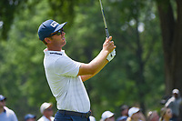 4th July 2021, Detroit, MI, USA;  Seamus Power (IRL) watches his tee shot on 5 during the Rocket Mortgage Classic Rd4 at Detroit Golf Club on July 4,
