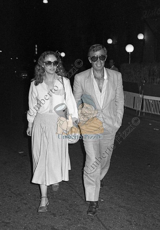 JEAN PAUL BELMONDO CON LAURA ANTONELLI<br /> ROMA 1979
