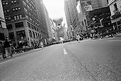 New York, New York<br /> November 26, 2009<br /> USA<br /> <br /> Following the Macy's Thanksgiving Day Parade in mid-town Manhattan, the Pillsbury Dough Boy is moved down 7th Avenue to be deflated along side other children's cartoon character balloons marking the beginning of the Christmas season.
