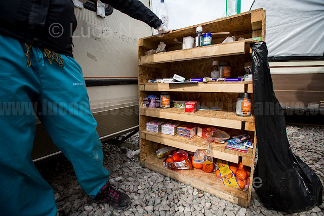 """First Aid Camp - First Team: Oranges as great source of Vitamin C.<br /> <br /> Calais Jungle Camp.<br /> <br /> Under the Sky of Calais & Dunkirk. Two Camps, Two Sides of the Same Coin: Not 'migrants', Not 'refugees', just Humans.<br /> <br /> France, 24-30/03/2016. Documenting (and following) Zekra and her experience in the two French camps at the gate of the United Kingdom: Calais' """"Jungle"""" and Dunkirk's """"Grande-Synthe"""". Zekra lives in London but she is originally from Basra in Iraq. Zekra and her family had to flee Kuwait - where they moved for working reason - due to the """"Gulf War"""", and to the Western Countries' will to """"export Democracy in Iraq"""". Zekra is a self-motivated volunteer and founder of """"Happy Ravers"""", a group of people (not a NGO or a charity) linked to each other because of their love for rave parties but also men and women who meet up every week to help homeless people and other people in need in Central London. (Here there are some of the stories I covered about Zekra and """"Happy Ravers"""": http://bit.ly/1XVj1Cg & http://bit.ly/24kcGQz & http://bit.ly/1TY0dPO). Zekra worked as an English teacher in the adult school at Dunkirk's """"Grande-Synthe"""" camp and as a cultural mediator and Arabic translator for two medic teams in Calais' """"Jungle"""". Please read her story at the beginning of this reportage."""
