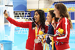 Toronto, Ontario, August 12, 2015. Katarina Roxon and Aurelie Rivard at the swimming during the 2015 Parapan Am Games . Photo Scott Grant/Canadian Paralympic Committee
