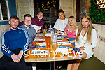 Enjoying the evening in Benners on Saturday, l to r: Darragh Dowling (Tralee), Graham Foran (Tralee), Matthew Hanlon (Tralee), Shauna Baitson (Tralee), Dominika Kacparzak (Tralee) and Julia Lehane (Tralee).