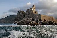 - Portovenere (La Spezia), the cape with the church of S.Peter....- Portovenere (La Spezia), la punta con la chiesa di S.Pietro