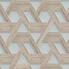 Hector Grand, a stone and glass waterjet mosaic, shown in honed Whitewood and Tropical White.