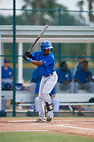 Toronto Blue Jays designated hitter Samad Taylor (48) at bat during an Instructional League game against the Pittsburgh Pirates on October 13, 2017 at Pirate City in Bradenton, Florida.  (Mike Janes/Four Seam Images)