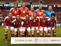 Sandy, UT - October 19, 2016: The USWNT take on Switzerland in an international friendly game at Rio Tinto Stadium.