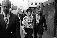 Pix: Copyright Anglia Press Agency/Archived via SWpix.com. The Bamber Killings. August 1985. Murders of Neville and June Bamber, daughter Sheila Caffell and her twin boys. Jeremy Bamber convicted of killings serving life...copyright photograph>>Anglia Press Agency>>07811 267 706>>..Julie Mugford, girlfriend of Jeremy Bamber, at Chelmsford Crown Court. no date..ref 0004 neg 10..