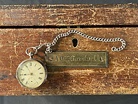 Watch worn by a Titanic crew member who survived the disaster in the so-called 'money lifeboat'