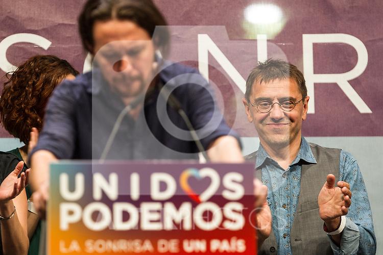 Spanish politician Juan Carlos Monedero during the closing of the electoral campaign of Unidos Podemos. 24,06,2016. (ALTERPHOTOS/Rodrigo Jimenez)