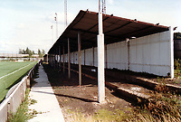Covered terrace at Erith & Belvedere FC Football Ground, Park View, Lower Road, Belvedere, Kent, pictured on 30th January 1994