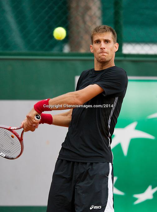 France, Paris, 28.05.2014. Tennis, French Open, Roland Garros, Martin Klizan (SVK)<br /> Photo:Tennisimages/Henk Koster