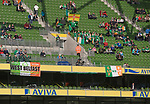 Republic of Ireland 5  Northern Ireland 0, 24/05/2011. Aviva Stadium, Carling Nations Cup. Supporters seated in the stands at the Aviva Stadium in Dublin before the Republic of Ireland took on Northern Ireland in a 2011 Carling Nations Cup game. The Republic won the game by 5 goals to 0. The multi-sports venue was originally known as Lansdowne Road and was reopened in 2010 after it was completely redeveloped. Photo by Colin McPherson.