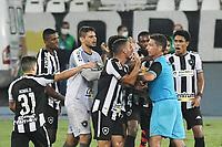 Rio de Janeiro (RJ), 24/03/2021 - Botafogo-Flamengo - Jogadores do Botafogo,durante partida contra o Flamengo,válida pela 5ª rodada da Taça Guanabara,realizada no Estádio Nilton Santos (Engenhão), na zona norte do Rio de Janeiro,nesta quarta-feira (24).