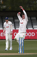 Dan Lawrence in bowling action for Essex during Essex CCC vs Worcestershire CCC, LV Insurance County Championship Group 1 Cricket at The Cloudfm County Ground on 11th April 2021