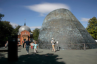The Planetarium and the Altazimuth Pavilion at the Royal Observatory Greenwich, London, UK