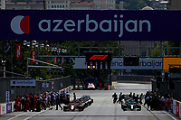 Starting grid, 16 LECLERC Charles (mco), Scuderia Ferrari SF21, action during the Formula 1 Azerbaijan Grand Prix 2021 from June 04 to 06, 2021 on the Baku City Circuit, in Baku, Azerbaijan -<br /> FORMULA 1 : Grand Prix Azerbaijan <br /> 06/06/2021 <br /> Photo DPPI/Panoramic/Insidefoto <br /> ITALY ONLY