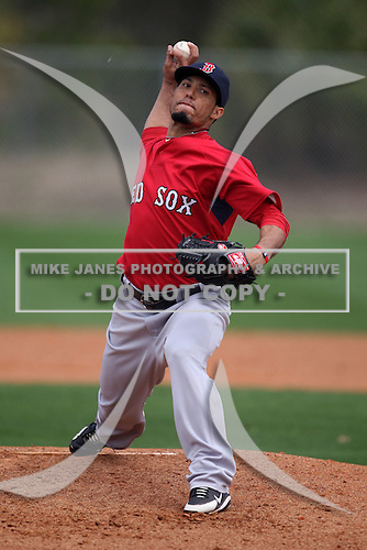 March 18, 2010:  Pitcher Ramon A. Ramirez (71) of the Boston Red Sox organization during Spring Training at Ft.  Myers Training Complex in Fort Myers, FL.  Photo By Mike Janes/Four Seam Images