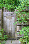 Garden Gate, Portland Japanese Garden.  The Japanese Garden in Portland is a 5.5 acre respit.  Said to be one of the most authentic Japanese Garden's outside of Japan, the rolling terrain and water features symbolize both peace and strength.
