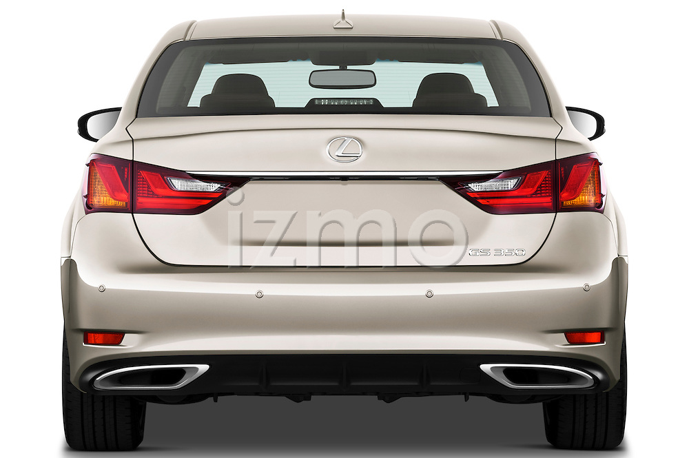 Straight rear view of a 2013 Lexus GS 350