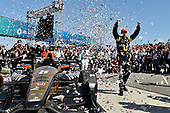 2017 Verizon IndyCar Series<br /> Toyota Grand Prix of Long Beach<br /> Streets of Long Beach, CA USA<br /> Sunday 9 April 2017<br /> James Hinchcliffe celebrates the win in victory lane<br /> World Copyright: Scott R LePage/LAT Images<br /> ref: Digital Image lepage-170409-LB-7617