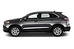 Car Driver side profile view of a 2021 Ford Edge Titanium-FWD 5 Door suv Side View