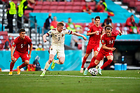 COPENHAGEN, DENMARK - JUNE 17 : Kevin De Bruyne forward of Belgium during the 16th UEFA Euro 2020 Championship Group B match between Denmark and Belgium on June 17, 2021 in Copenhagen, Denmark, 17/06/2021  <br /> Photo Photonews / Panoramic / Insidefoto <br /> ITALY ONLY