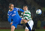 St Johnstone v Celtic..27.10.10  .Dave Mackay and Gary Hooper..Picture by Graeme Hart..Copyright Perthshire Picture Agency.Tel: 01738 623350  Mobile: 07990 594431