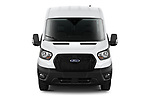 Car photography straight front view of a 2021 Ford Transit-Van - 4 Door Cargo Van Front View