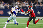 Dallas Cowboys wide receiver Jon'Vea Johnson (81) in action during the pre-season game between the Tampa Bay Buccaneers and the Dallas Cowboys at the AT & T Stadium in Arlington, Texas.