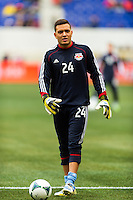 New York Red Bulls goalkeeper Santiago Castano (24). The New York Red Bulls and D. C. United played to a 0-0 tie during a Major League Soccer (MLS) match at Red Bull Arena in Harrison, NJ, on March 16, 2013.
