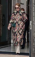 July 23 2017, PARIS FRANCE Singer Celine Dion leaves the Royal Monceau Hotel on<br /> Avenue Hoche to her Show in Berlin # CELINE DION SORT DE SON HOTEL ROYAL MONCEAU