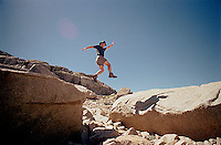 Jumping from rock to rock<br />