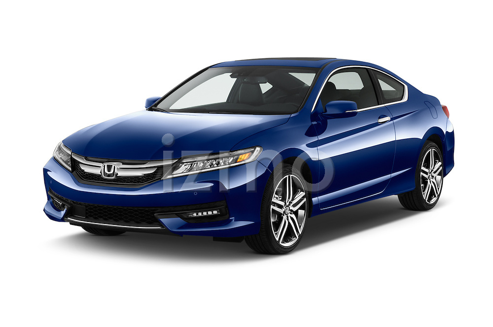 2017 Honda Accord Touring 2 Door Coupe Angular Front stock photos of front three quarter view