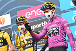Maglia Ciclamino Wout Van Aert (BEL) Team Jumbo-Visma at sign on before the start of Stage 5 of Tirreno-Adriatico Eolo 2021, running 205km from Castellalto to Castelfidardo, Italy. 14th March 2021. <br /> Photo: LaPresse/Gian Mattia D'Alberto | Cyclefile<br /> <br /> All photos usage must carry mandatory copyright credit (© Cyclefile | LaPresse/Gian Mattia D'Alberto)