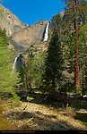 Yosemite Falls from John Muir Cabin Site in Spring, Yosemite National Park