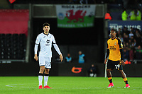 Jack Evans of Swansea City during the Carabao Cup Second Round match between Swansea City and Cambridge United at the Liberty Stadium in Swansea, Wales, UK. Wednesday 28, August 2019.