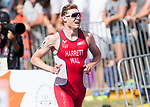 Wales Lestyn Harrett in action during the Triathlon Mixed Relay<br /> <br /> *This image must be credited to Ian Cook Sportingwales and can only be used in conjunction with this event only*<br /> <br /> 21st Commonwealth Games - Triathlon Mixed Relay  -  Day 3 - 07/04/2018 - Southport Boardwater Parklands - Gold Coast City - Australia