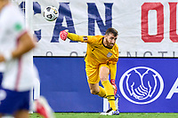 5th September 2021; Nashville, TN, USA;  United States goalkeeper Matt Turner (1) throws the ball out to his defenders during a CONCACAF World Cup qualifying match between the United States and Canada on September 5, 2021 at Nissan Stadium in Nashville, TN.