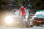 Race leader Richard Carapaz (ECU) Ineos Grenadiers climbs during Stage 13 of the Vuelta Espana 2020 an individual time trial running 33.7km from Muros to Mirador de Ézaro. Dumbría, Spain. 3rd November 2020. <br /> Picture: Luis Angel Gomez/PhotoSportGomez | Cyclefile<br /> <br /> All photos usage must carry mandatory copyright credit (© Cyclefile | Luis Angel Gomez/PhotoSportGomez)