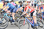 Race leader Lisa Brennauer (GER) CERATIZIT-WNT Pro Cycling Team in the pack during Stage 3 of the CERATIZIT Challenge by La Vuelta 2020, running 98.6km around the streets of Madrid, Spain. 8th November 2020.<br /> Picture: Antonio Baixauli López/BaixauliStudio | Cyclefile<br /> <br /> All photos usage must carry mandatory copyright credit (© Cyclefile | Antonio Baixauli López/BaixauliStudio)