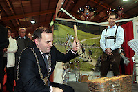 NO FEE PICTURES.25/1/13 Lord Mayor of Dublin Naoise Ó Muirí at the Holiday World Show at the RDS, Dublin. Picture:Arthur Carron/Collins